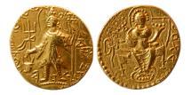 Ancient Coins - INDIA, KUSHAN EMPIRE. Vasishka. Circa AD 195-210 or 245-260. Gold Stater.