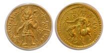 Ancient Coins - INDIA, KUSHAN EMPIRE. Vasudeva I. Circa AD. 191-230. Gold Dinar.  ANACS-AU55.