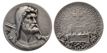 World Coins - SWITZERLAND. 1949. William Tell Shooting Festival, Silver Medal of Honor.