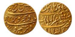 Ancient Coins - INDIA, Mughul Empire. Farrukhsiyar. 1713-1719 AD. Gold Mohur. Akbarabad Mint. Choice FDC.
