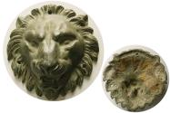 Ancient Coins - ROMAN EMPIRE. Circa 1st. Century AD. Bronze Lion head Placque. Wonderful style.