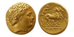 Ancient Coins - KINGS Of MACEDON. Philip II. 359-336 BC. AV Stater. Amphipolis mint. Lustrous.