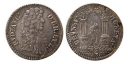 World Coins - GERMAN STATES. Rudolf Augusts. 1675. 2/3 Taler. Extremely Rare.