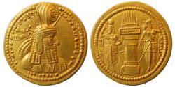 SASANIAN KINGS. Varhran (Bahram) I. AD. 273-276. Gold Dinar. Extremely Rare.