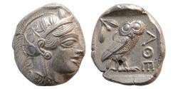 Ancient Coins - ATTICA, Athens. 440-404 BC. Silver Tetradrachm. Full Crest. Choice FDC. Lustrous.