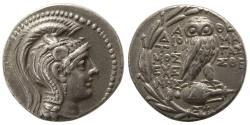 Ancient Coins - ATTICA, Athens. Ca. 114-113 BC. AR Tetradrachm. New Style Coinage.