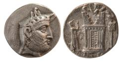 Ancient Coins - KINGS of PERSIS. Autophradates II. early to mid 2nd Century BC. Silver Tetradrachm. Rare.