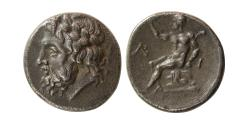 Ancient Coins - PELOPONNESOS, ARKADIA, Arkadian League. Circa 330-275 BC. AR Triobol.