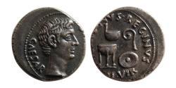 Ancient Coins - ROMAN EMPIRE. Augustus. 27 BC-AD 14. Silver Denarius.