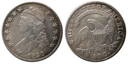 World Coins - UNITED STATES. 1830. Half Dollar. Liberty Capped Bust. Choice UNC.
