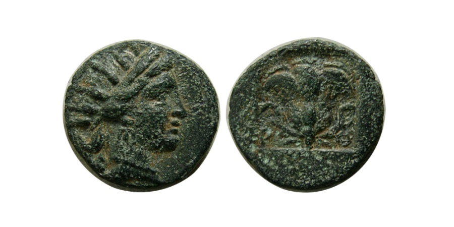 Ancient Coins - ISLANDS off CARIA, Rhodos, Rhodes. Circa 125-88 BC. AE 12mm.