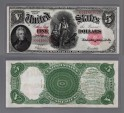 World Coins - US Early Large Bank Notes. $ 5. 1907. Choice EF.
