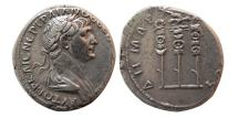 Ancient Coins - CAPPADOCIA, Caesarea. Trajan. 98-117 AD. AR Tridrachm.