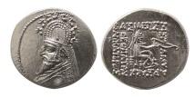 Ancient Coins - KINGS OF PARTHIA. Phraates III. 70/69-58/7 BC. AR Drachm. Elegant style.