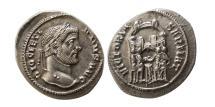 Ancient Coins - ROMAN EMPIRE. Diocletian. 284-305 AD. AR Argenteus. Ticinum,  AD 294. Lustrous.