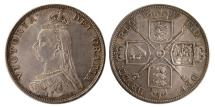 World Coins - GREAT BRITAIN. Queen Victoria. 1887- 4 Shilling. Double Florin.
