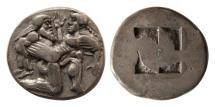 Ancient Coins - ISLANDS OF THRACE, THASOS. Ca. 480-463 BC. AR Stater. Sharply struck.