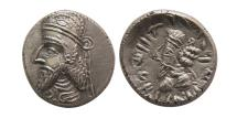 Ancient Coins - KINGS OF PERSIS; Napād (Kapat). 1st century AD. AR Drachm.