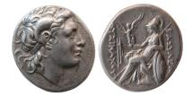 Ancient Coins - KINGS of THRACE, Lysimachos. 323-281 BC. AR Drachm. Ephesos mint. Lovely strike.