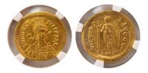 Ancient Coins - BYZANTINE EMPIRE. Anastasius I.AD. 491-518. Gold Solidus. NGC Choice AU (Strike 5/5; Surface 4/5)