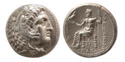 Ancient Coins - KINGS of MACEDON. Alexander III. 336-323 BC. Silver Tetradrachm. Arados, Posthumous issue.