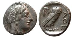 Ancient Coins - ATTICA, Athens. 440-404 BC. AR Tetradrachm. Mint State. Fully Lustrous.