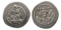 Ancient Coins - SASANIAN KINGS. Peroz. 2nd. AD 457-484. AR Drachm. BBA (Court at Ctesiphon) mint, year 6. Rare.