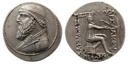 Ancient Coins - KINGS of PARTHIA. Mithradates II. 121-91 BC. AR Tetradrachm. Seleukeia on the Tigris mint.