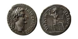 "Ancient Coins - ROMAN EMPIRE. Tiberius. 14-37 AD. Silver Denarius ""Tribute Penny""."