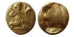 Ancient Coins - ACHAEMENID EMPIRE. Time of Xerxes II-Artaxerxes II. Circa 420-375 BC. Gold Daric. Lustrous.