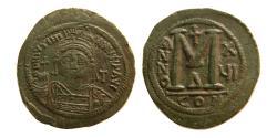 Ancient Coins - BYZANTINE EMPIRE. Justinian I. 527-565. Æ Follis.