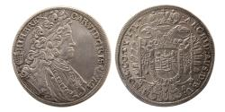 World Coins - HUNGARY, Karl VI. 1711-1740. 1/2 Taler.  1717-KB, Kremnitz. Choice Superb.
