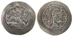 Ancient Coins - SASANIAN KINGS. Zamasp. AD. 497-499. Silver Drachm. mint: MI (Meshan), year: 2.  Scarce !