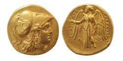 Ancient Coins - SELEUKID EMPIRE, Seleukos I. Nikator. 312-280 BC. Gold Stater. Babylon. Lovely strike. Lustrous.