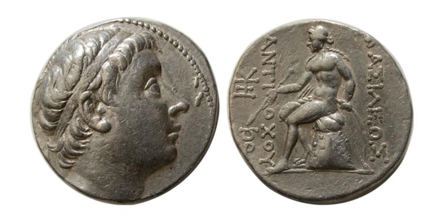 Ancient Coins - SELEUKID KINGDOM. Antiochus III. 223-187 BC. AR Tetradrachm.  Antioch on the Orontes