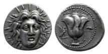CARIA; Rhodos, Rhodes. Circa 229-205 BC. AR Tetradrachm. Beautiful elegant style.