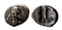 Ancient Coins - ACHAEMENID EMPIRE. Time of Artaxerxes II to Artaxerxes III. Ca. 375-340 BC. AR Siglos.