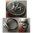 World Coins - Cupid, riding Sea Serpent - A custom-made Sterling Silver Ring