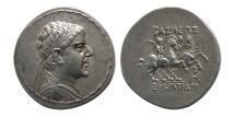 BAKTRIAN KINGS, Eukratides I. Circa 171-145 BC. AR Tetradrachm. Elegant style.