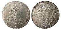 World Coins - ITALY, Florence. Francesco II of Lorena. 1735-1765. AR 1/2 Francescone. Rare.