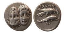 Ancient Coins - MOESIA, Istros. Circa 4th Century BC. AR Drachm.