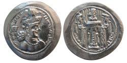 Ancient Coins - SASANIAN KINGS. Shapur III. AD. 383-388. Silver Drachm.