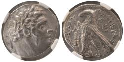 Ancient Coins - PHOENICIA, Tyre. 126/5 BC.- 65/6 AD. AR Shekel. NGC-Choice VF. dated year 30 (97/6 BC)