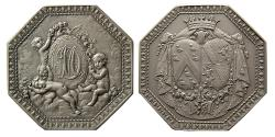 World Coins - FRANCE. 19th. Century. Silver Octagon Medal.
