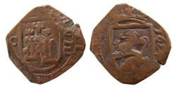 World Coins - COLONIAL SPAIN. Philip II. 1623 AD. AE Unit. dated 1624.