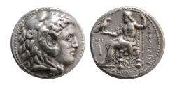 Ancient Coins - KINGS of MACEDON. Alexander III. 336-323 BC. AR Tetradrachm. Babylon mint, Posthumus issue.