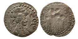Ancient Coins - HEPHTALITES. NEZAK HUNS. Napiki Malik. AD. 475-576. AR Drachm.