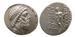 Ancient Coins - PARTHIAN KINGDOM, Mithradates I. 164-132 BC. Silver Tetradrachm.