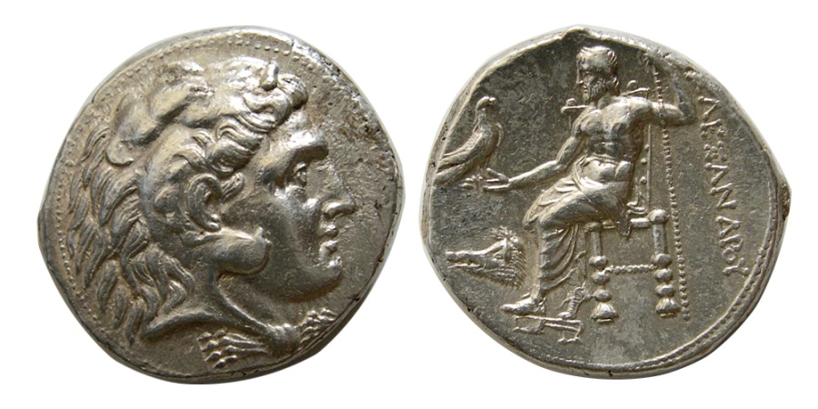 Ancient Coins - KINGS of MACEDON. Alexander III. 336-323 BC. AR Tetradrachm. Uncertain Phoenician mint. Rare.