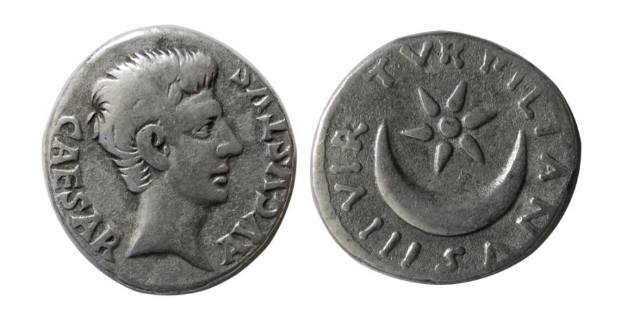 Ancient Coins - ROMAN EMPIRE. Augustus. 27 BC.-14 AD. AR Denarius.